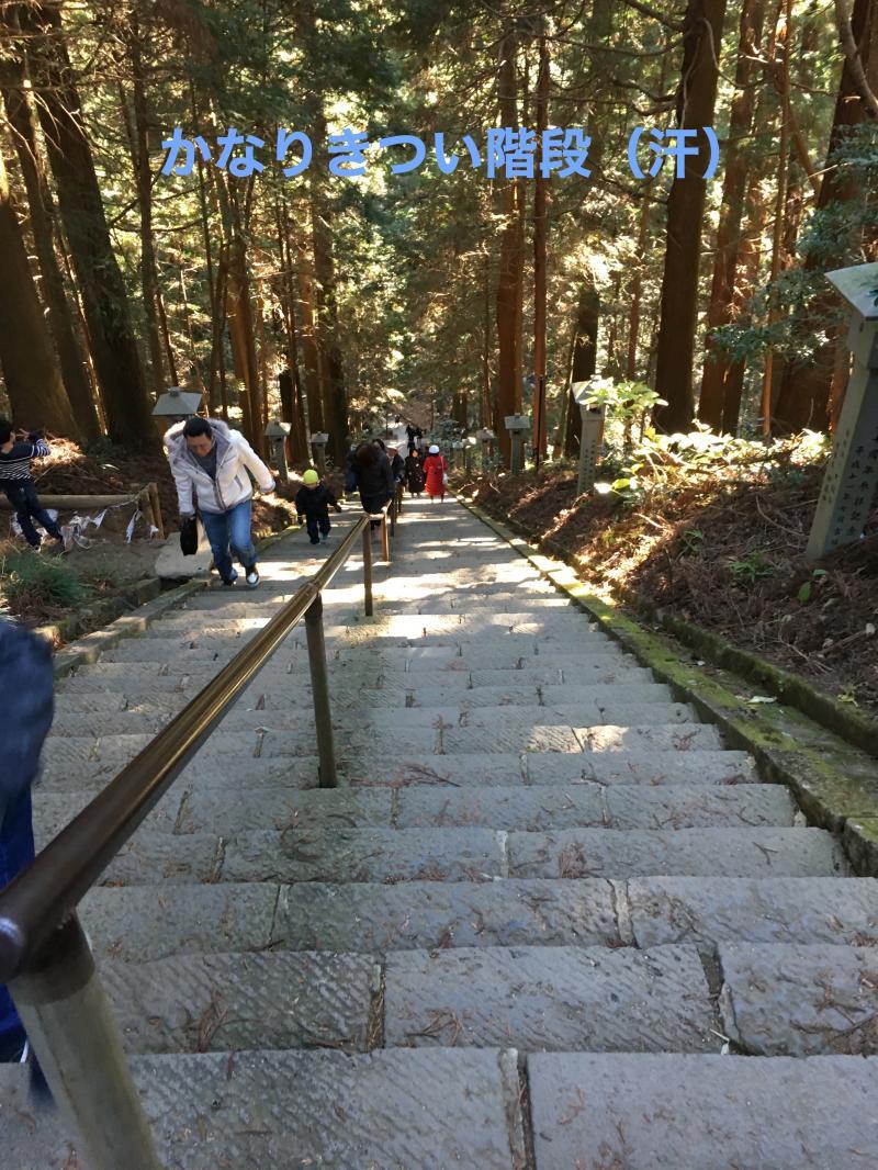 長〜い階段を登りきると